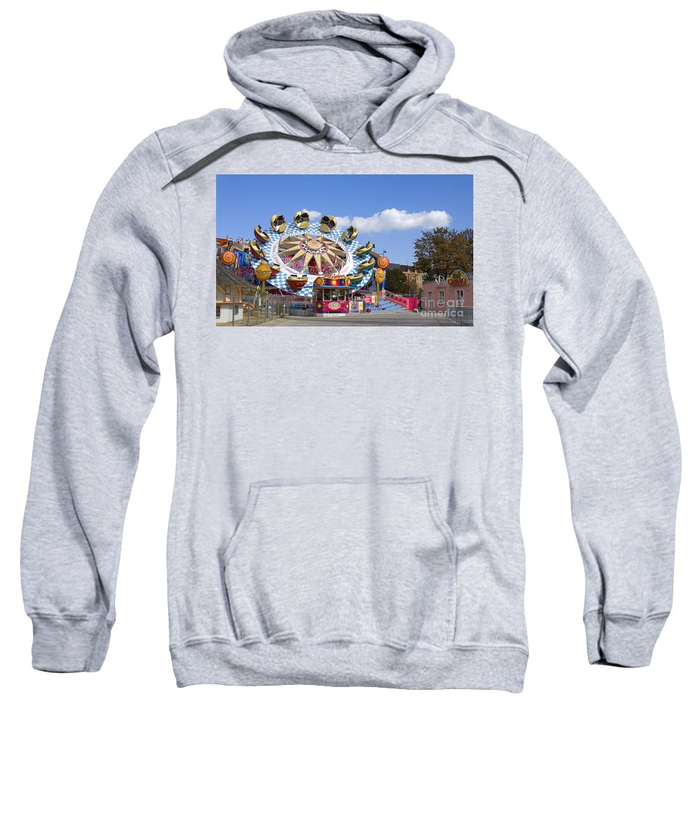 Amusement Park Sweatshirt featuring the photograph The Flipper At The Prater by Madeline Ellis