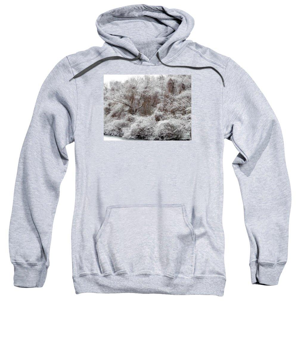 Snow Sweatshirt featuring the photograph The Forest Hush by Lynda Lehmann
