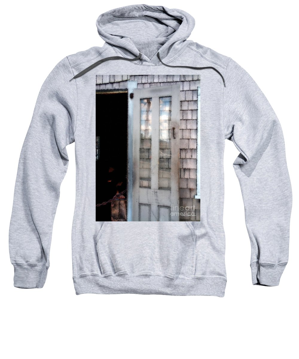Door Sweatshirt featuring the painting The Forge And The Ship by RC DeWinter