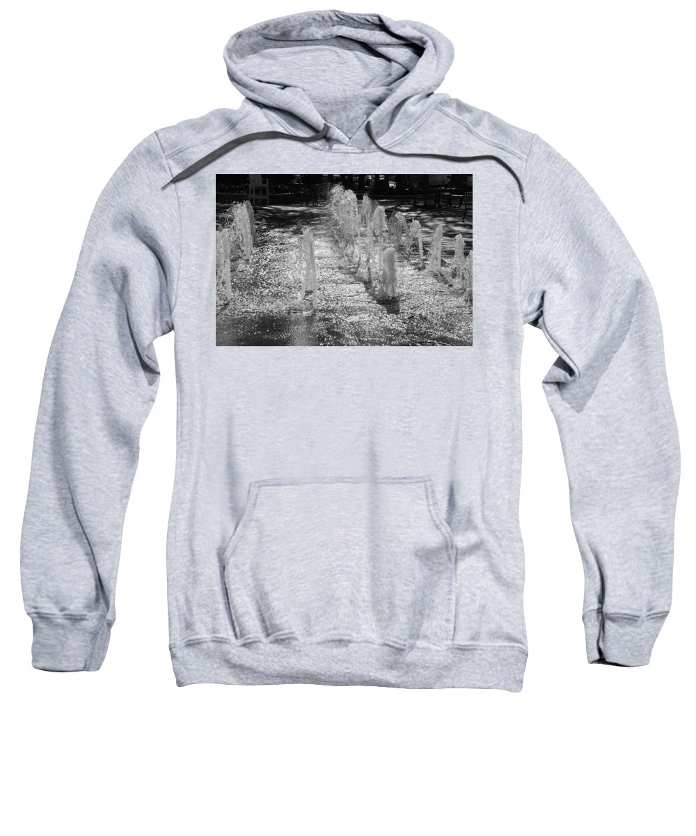 Black And White Sweatshirt featuring the photograph The Fountians Of Climatis by Rob Hans