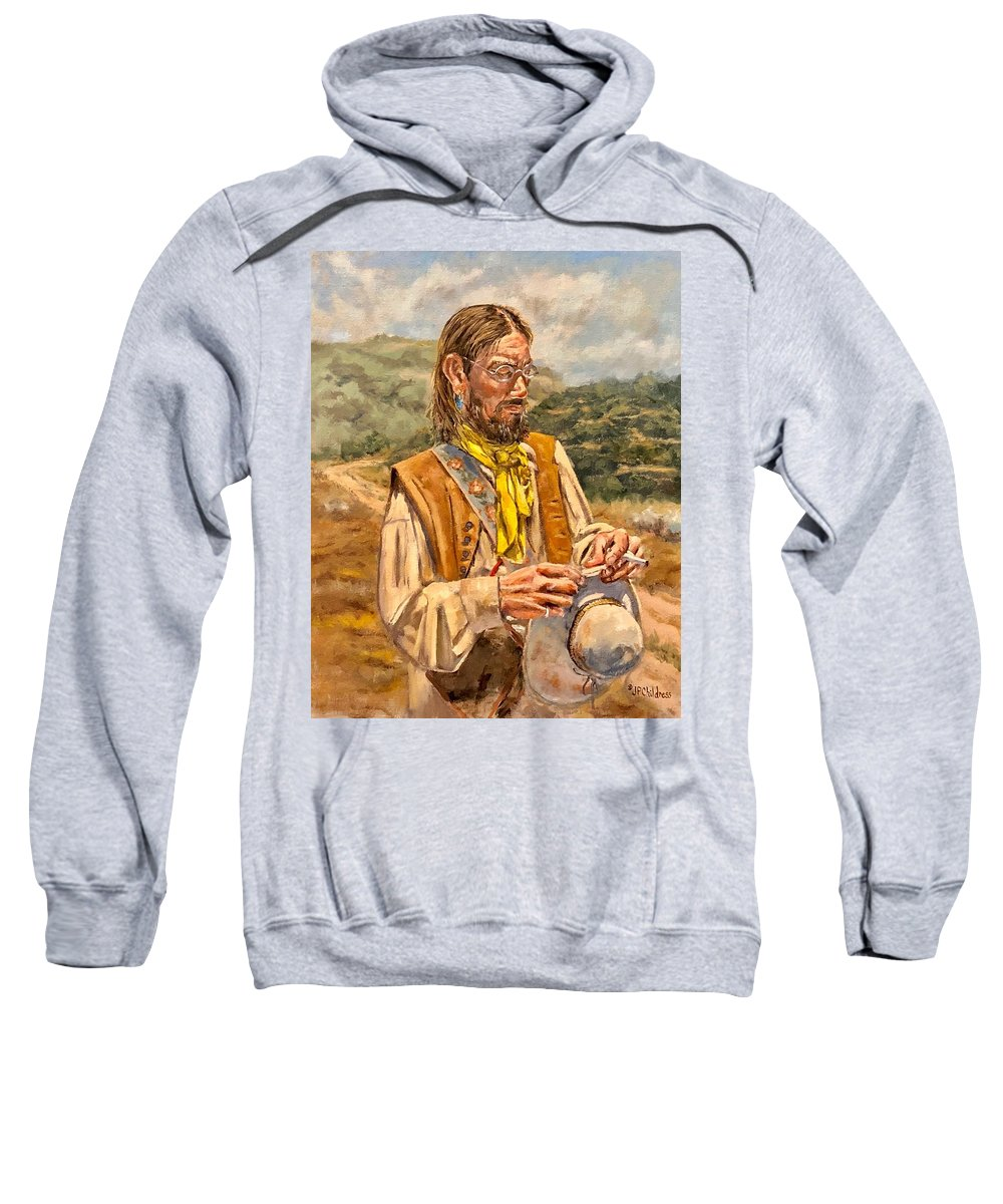 Pioneer Sweatshirt featuring the painting The Free Thinker by J P Childress