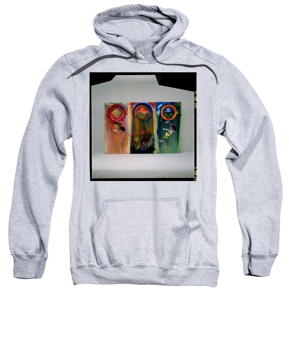 Fall From Grace Sweatshirt featuring the painting The Fruit Machine Stops by Charles Stuart