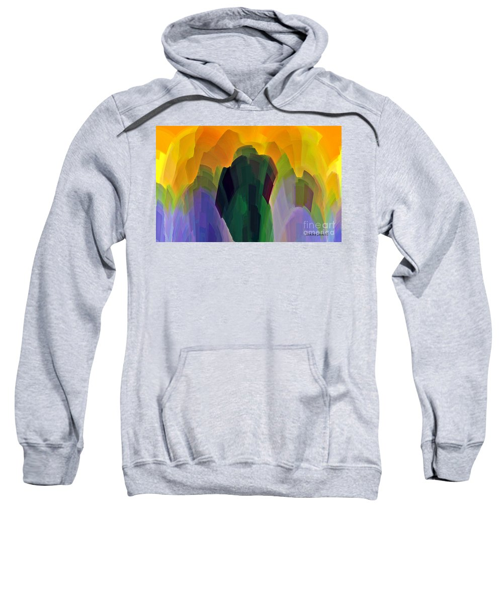 Garden Sweatshirt featuring the digital art The Gardener by Shelley Jones
