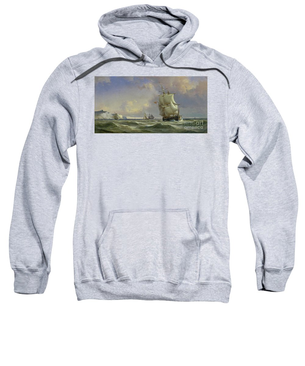 The Sweatshirt featuring the painting The Gathering Storm by Anton Melbye