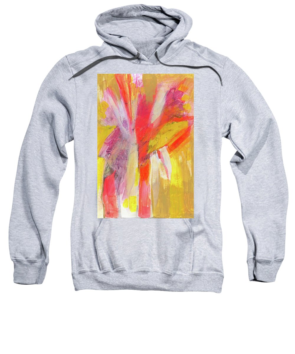 Abstract Sweatshirt featuring the painting The Gathering by Tonya Doughty