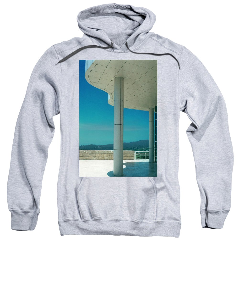 Architecture Sweatshirt featuring the photograph The Getty Panel 2 Of Triptyck by Steve Karol