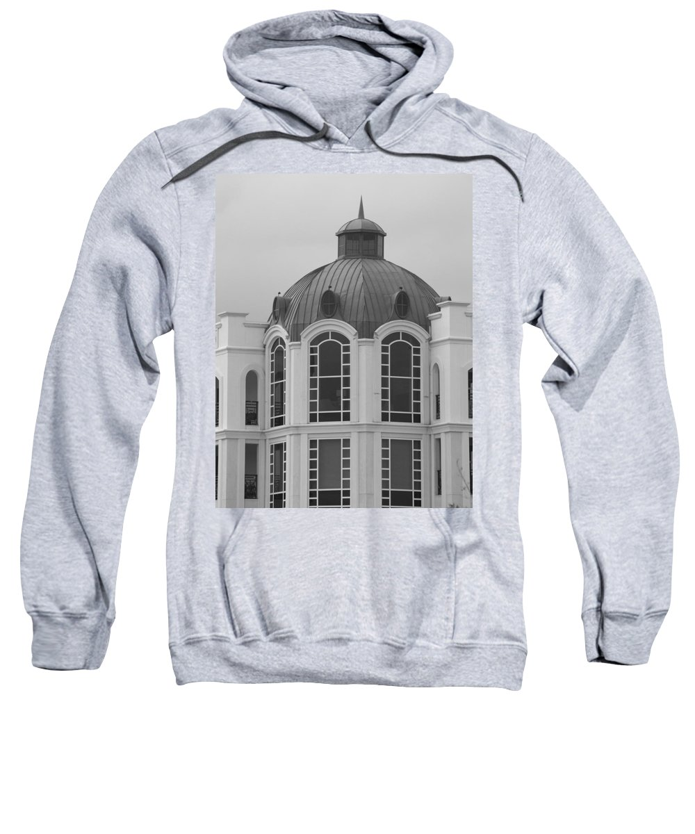 Black And White Sweatshirt featuring the photograph The Glass And Brass Tower by Rob Hans
