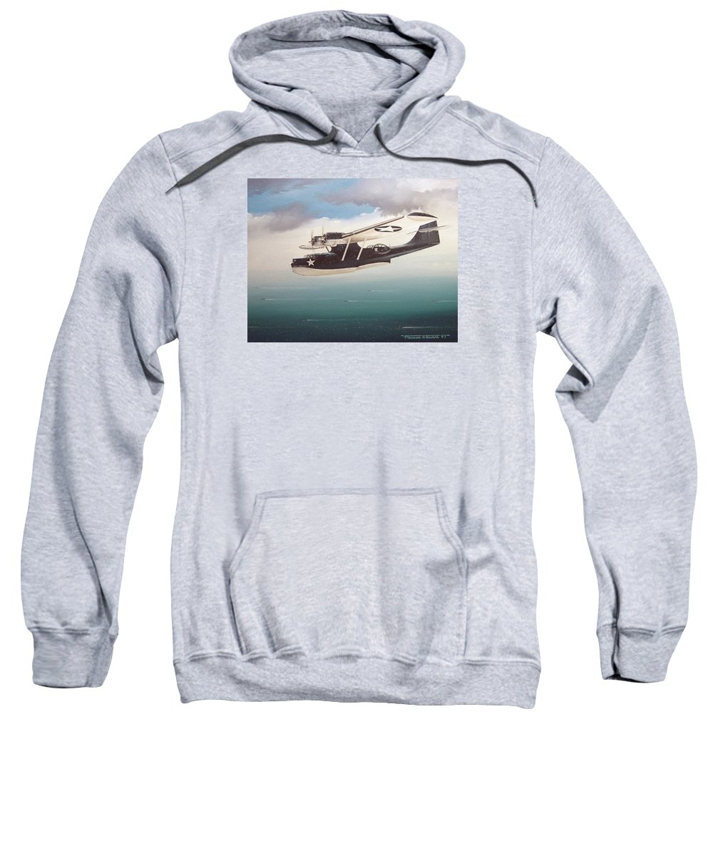 Painting Sweatshirt featuring the painting The Good Shepherd by Marc Stewart