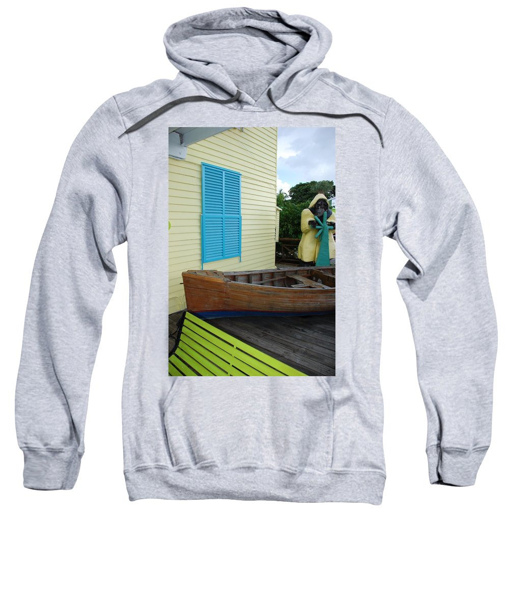Architecture Sweatshirt featuring the photograph The Gordons Fisherman House by Rob Hans