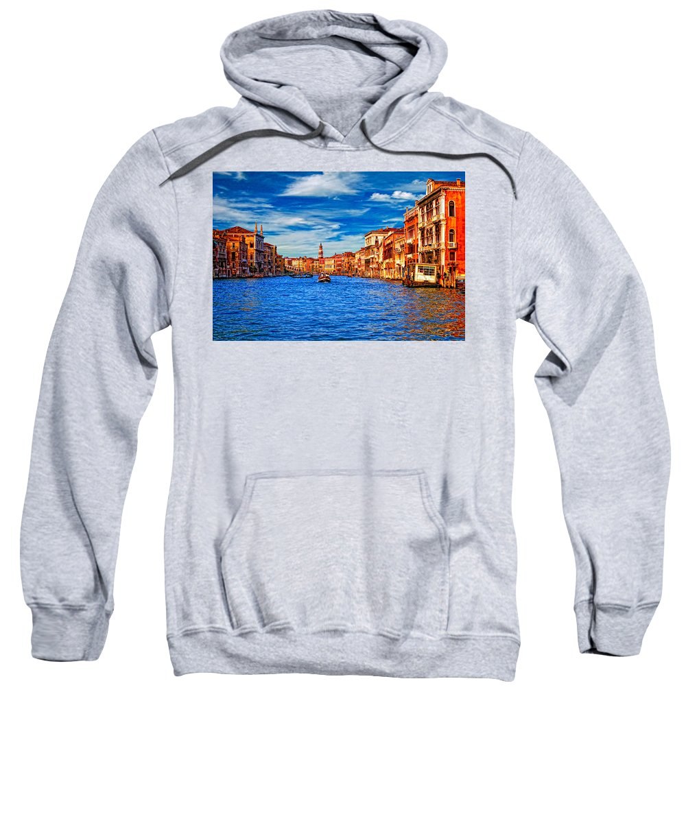 Venice Sweatshirt featuring the photograph The Grand Canal by Steve Harrington