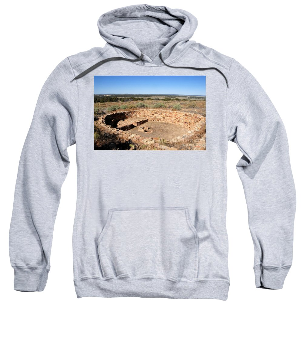 Great Kiva Sweatshirt featuring the photograph The Great Kiva by David Lee Thompson