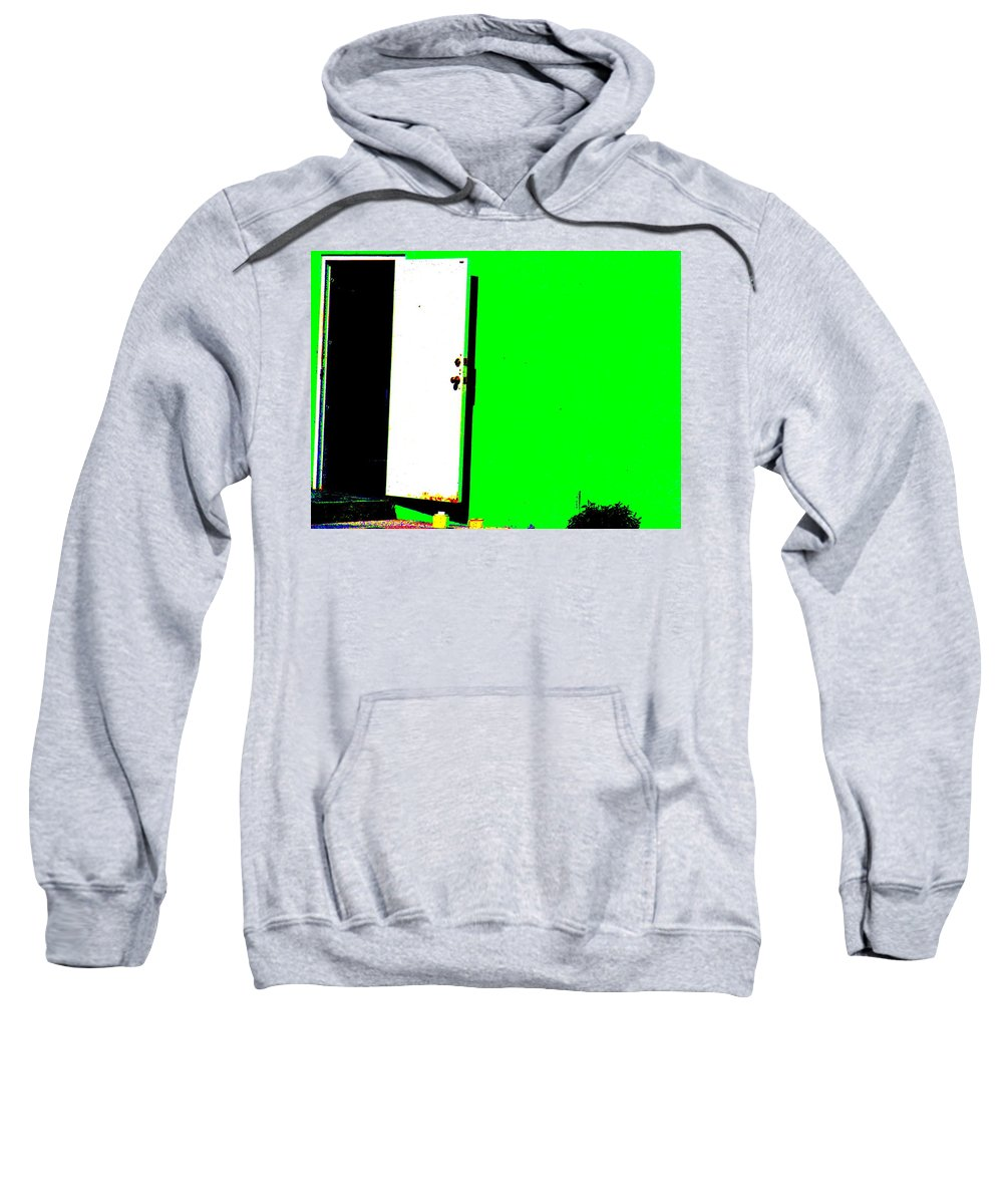 Still Life Sweatshirt featuring the photograph The Green Door by Ed Smith