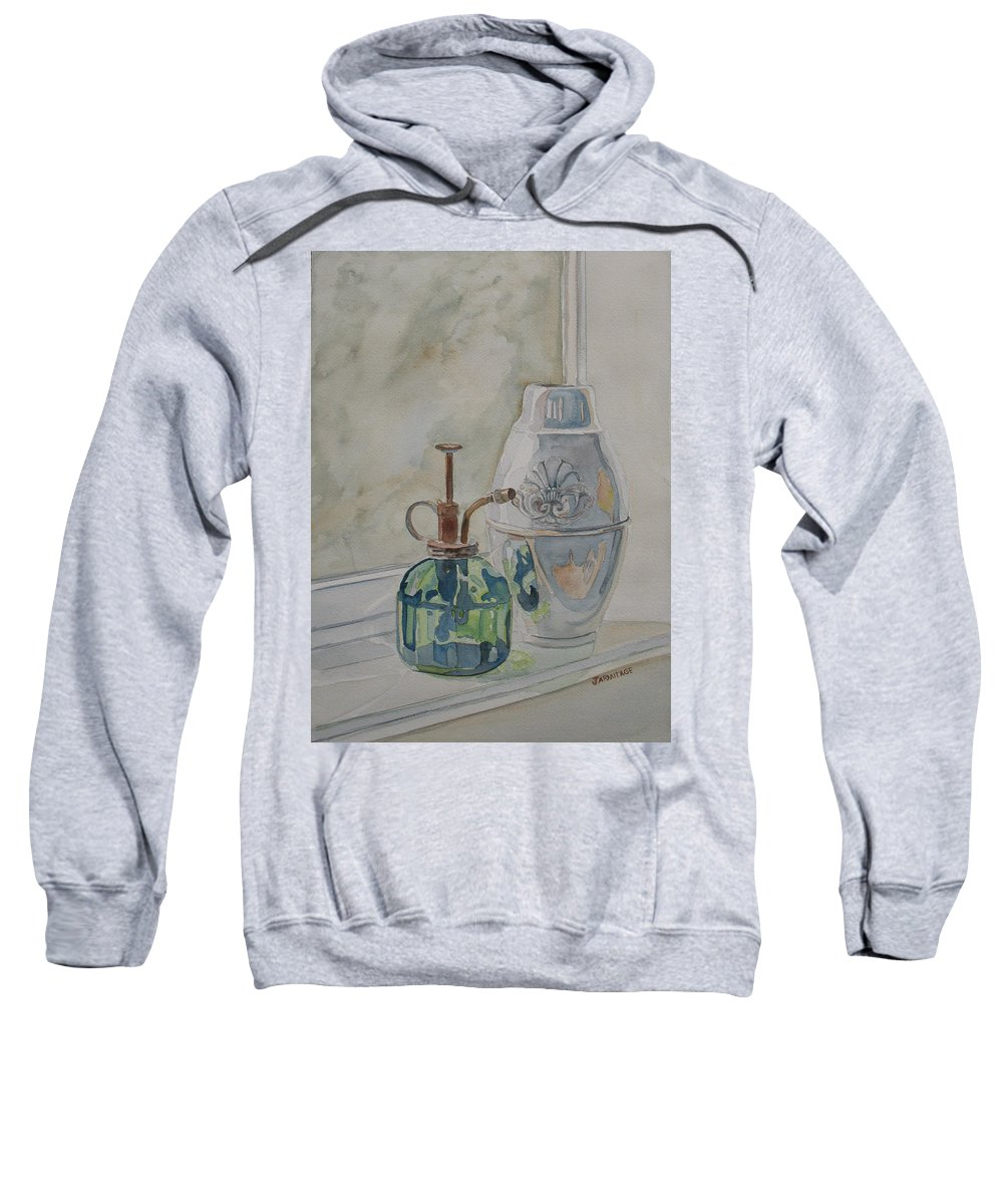 Plant Mister Sweatshirt featuring the painting The Green Mister by Jenny Armitage