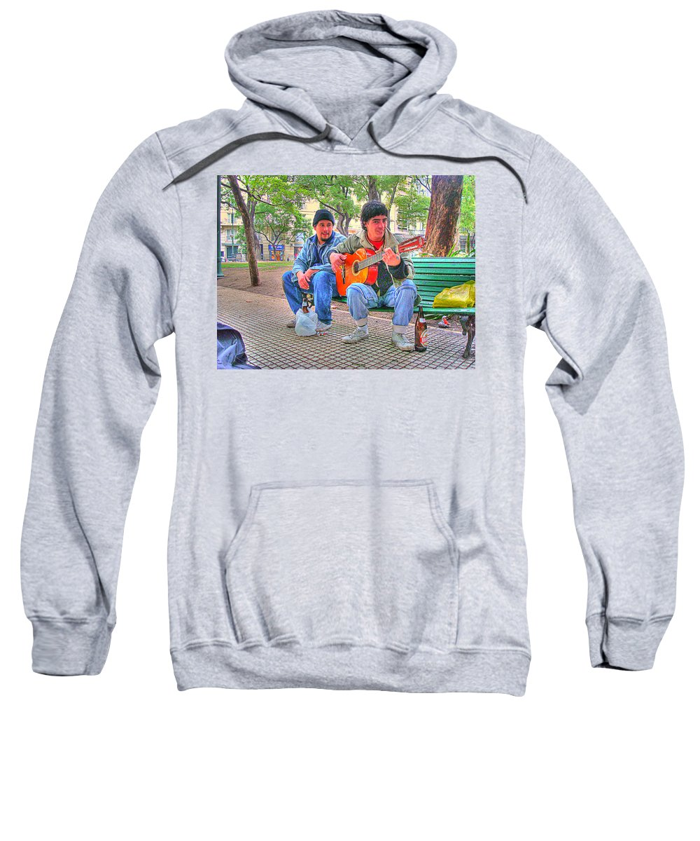 Park Sweatshirt featuring the photograph The Guitar by Francisco Colon
