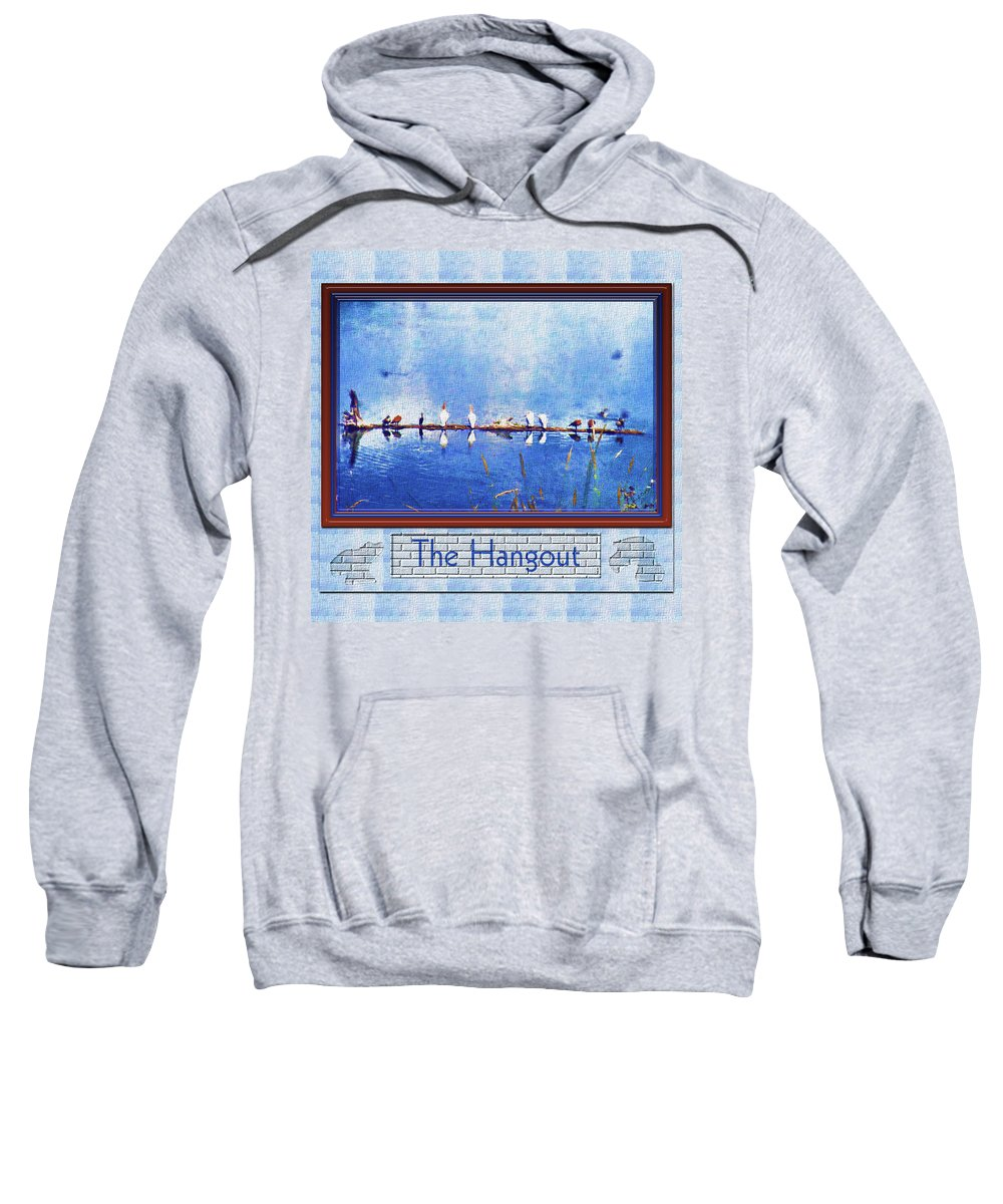 Birds Sweatshirt featuring the photograph The Hangout by Susan Kinney