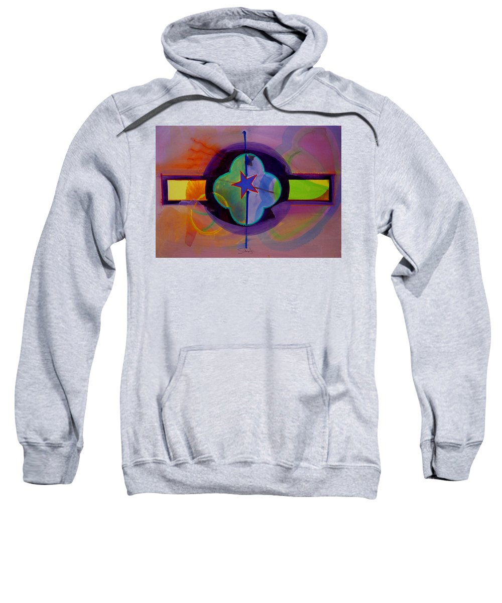 Star Sweatshirt featuring the painting The Happy American by Charles Stuart