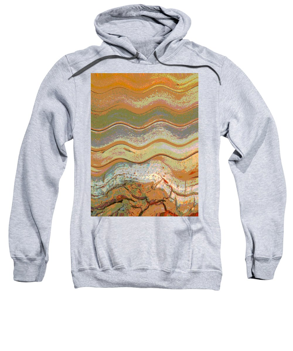 Abstract Sweatshirt featuring the photograph The Hill by Lenore Senior