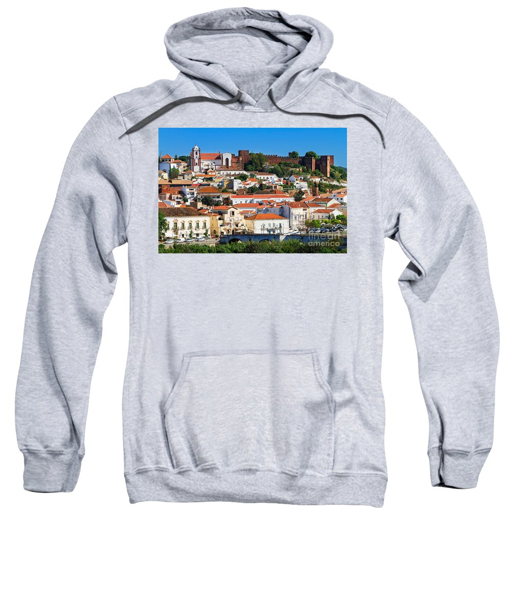 Silves Sweatshirt featuring the photograph The Historic Town Of Silves In Portugal by Louise Heusinkveld