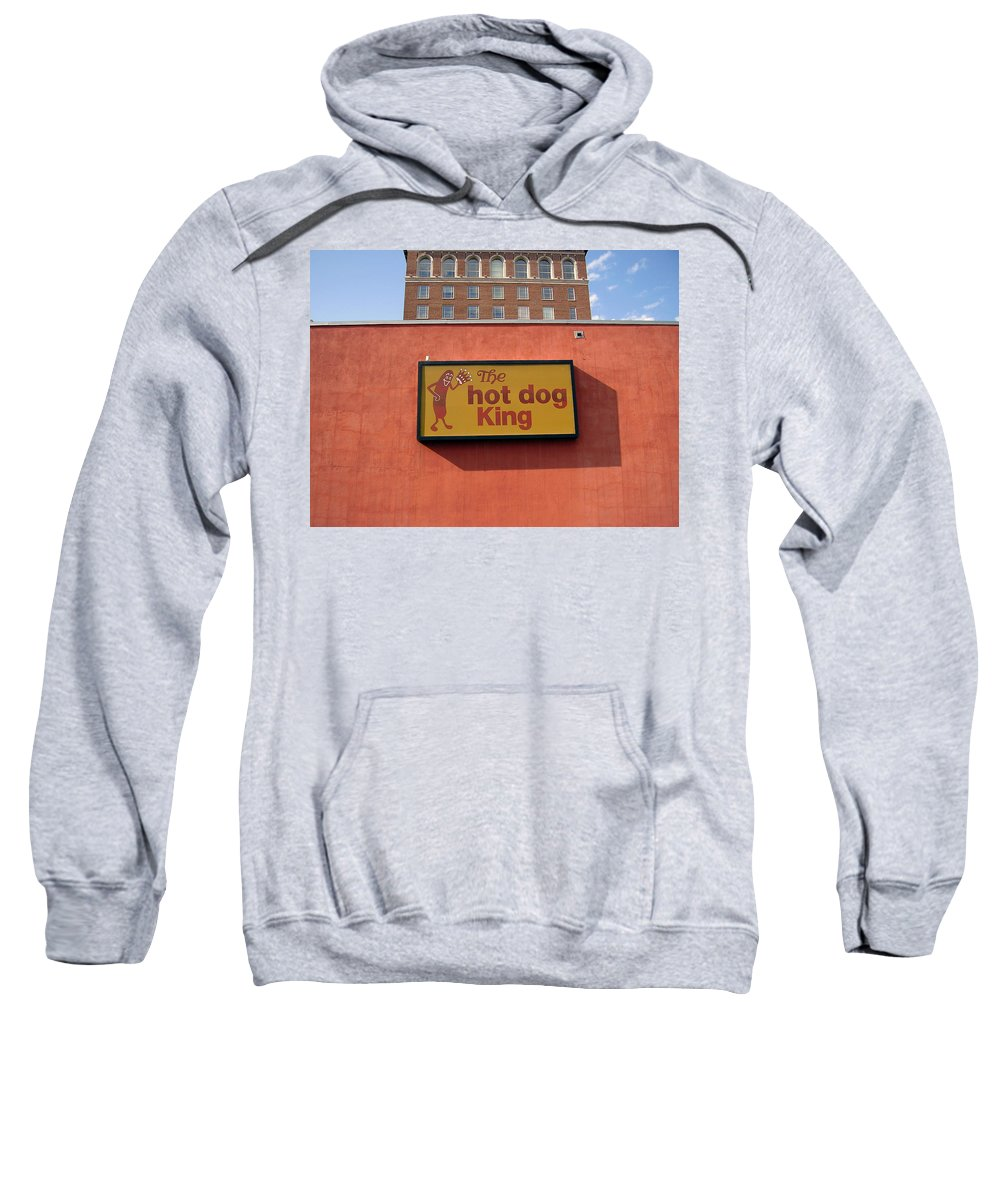 Hot Dog King Sweatshirt featuring the photograph The Hot Dog King by Flavia Westerwelle