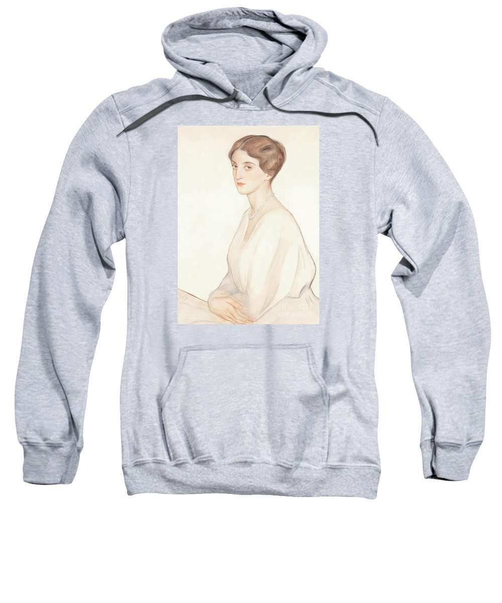 The Imperial Princess Nadezda Petrovna Romanova Of Russia Sweatshirt featuring the painting The Imperial Princess Nadezda by MotionAge Designs