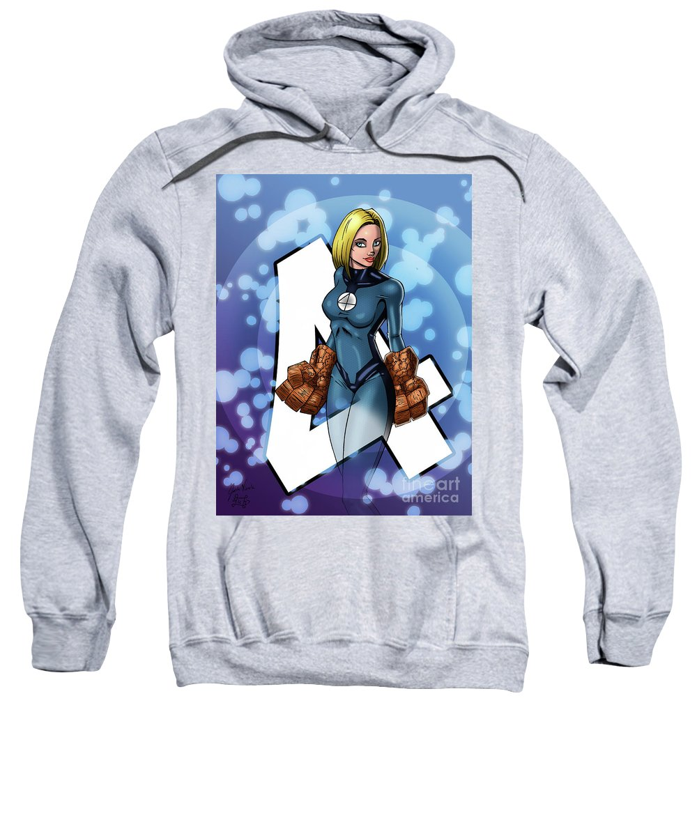 Invisible Woman Sweatshirt featuring the digital art The Invisible Woman by Josh Vierela