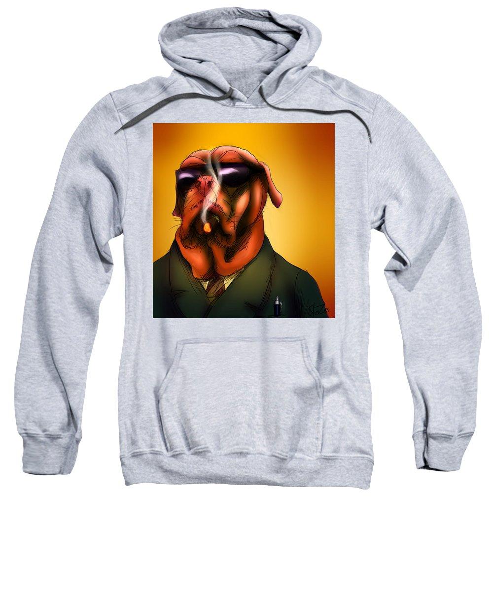 Kingpin Sweatshirt featuring the digital art The Kingpin by Shaza D