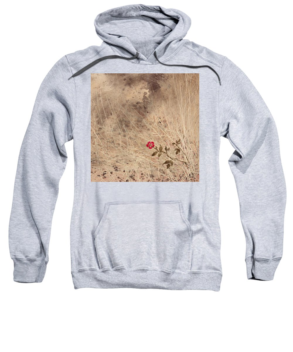 Abstract Sweatshirt featuring the digital art The Last Blossom by Rachel Christine Nowicki