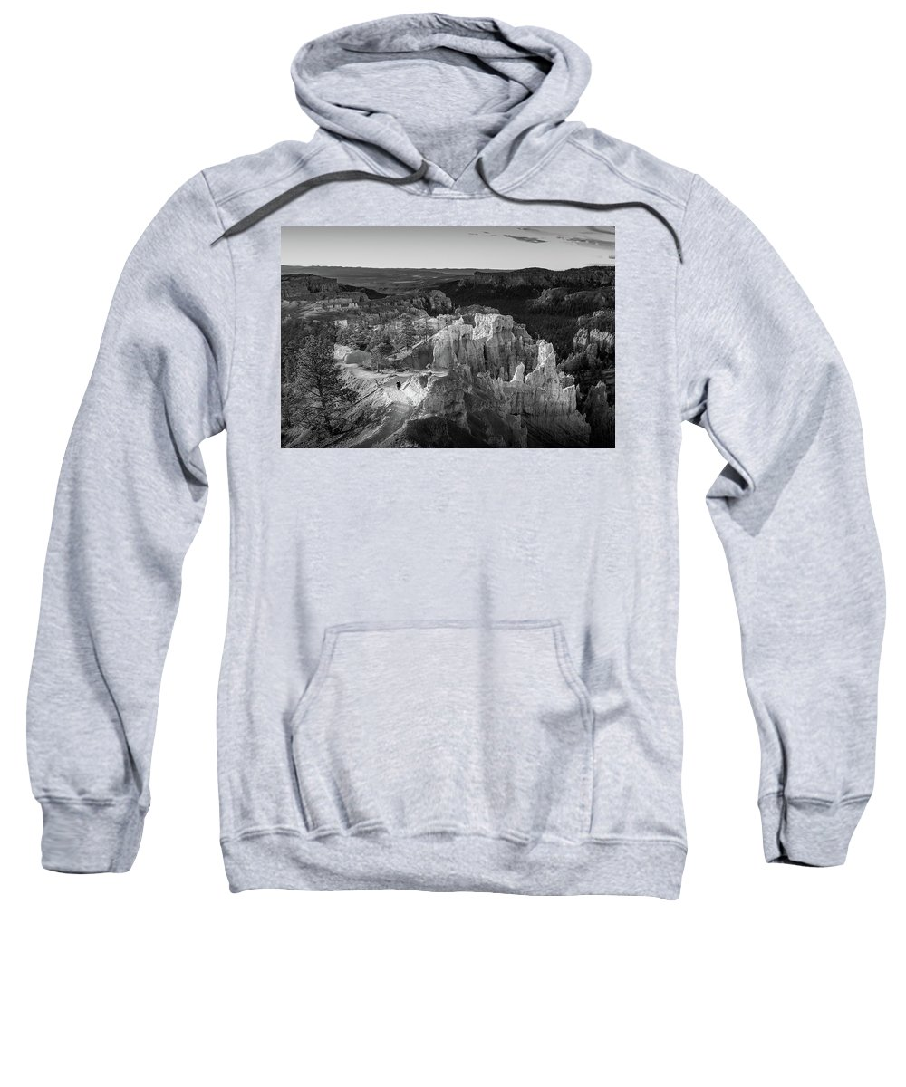 Bryce Canyon Sweatshirt featuring the photograph The Last Man On Earth by Bob Cuthbert