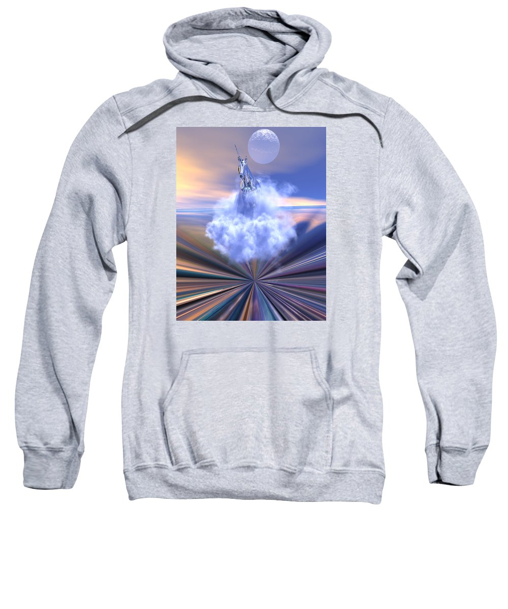 Bryce Sweatshirt featuring the digital art The Last Of The Unicorns by Claude McCoy