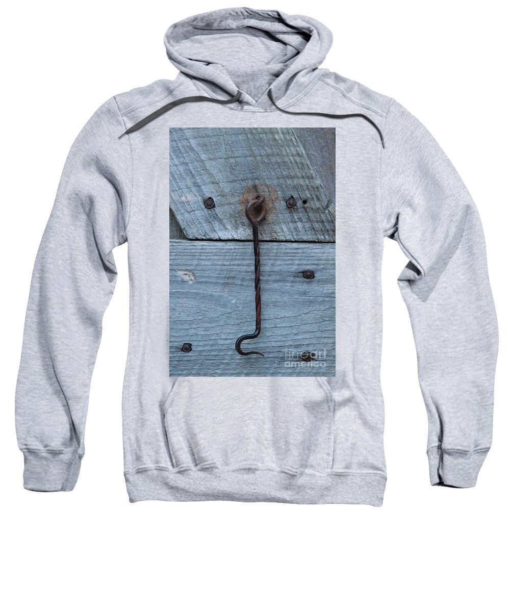 Swing Lock Sweatshirt featuring the photograph The Latch by Robert Pearson