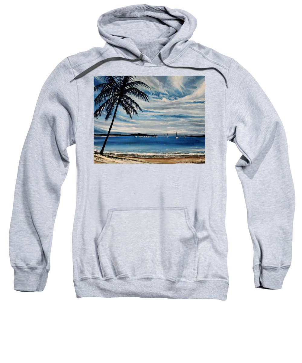 Landscape Sweatshirt featuring the painting The Life by Elizabeth Robinette Tyndall