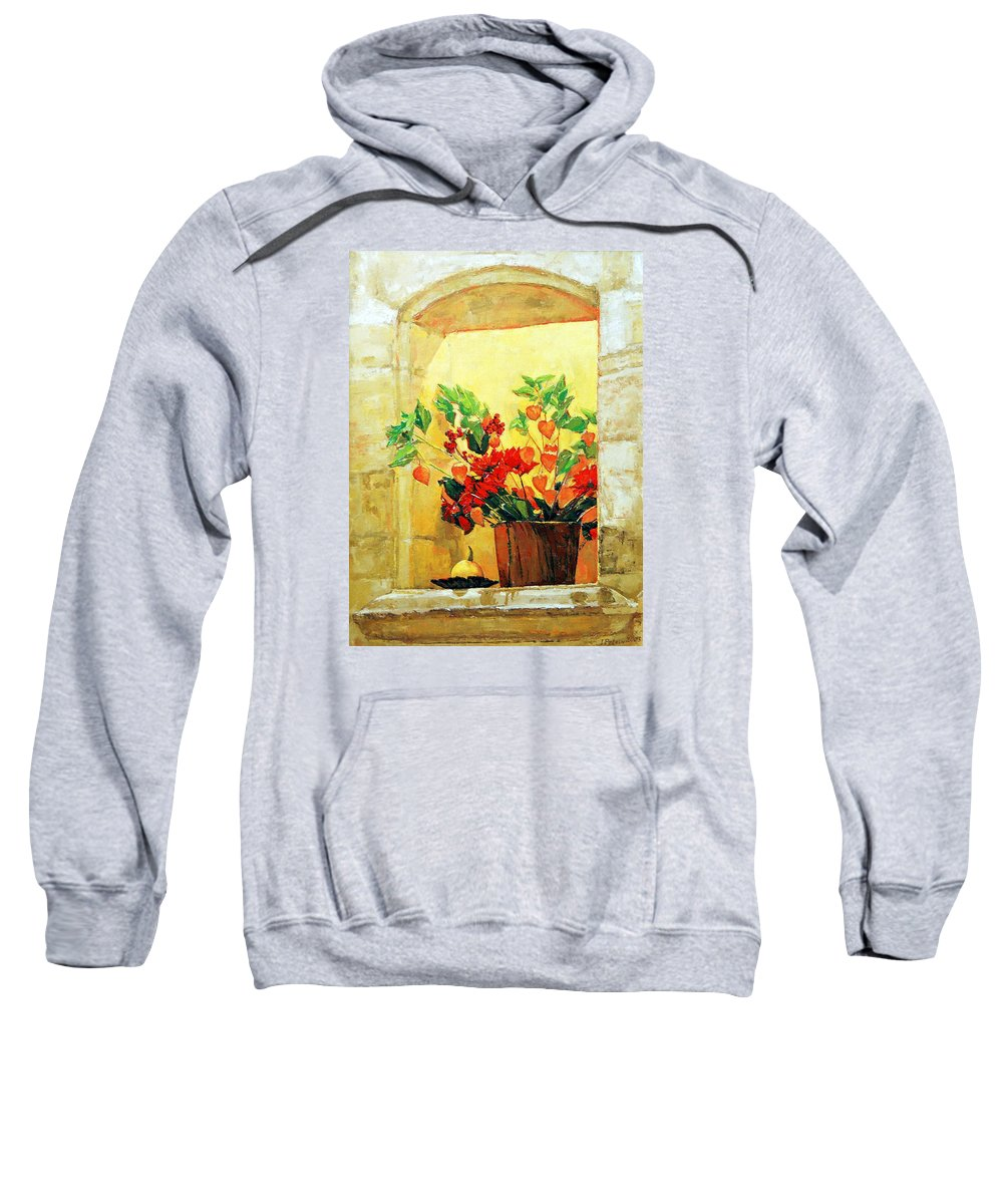 Still Life Sweatshirt featuring the painting The Light by Iliyan Bozhanov