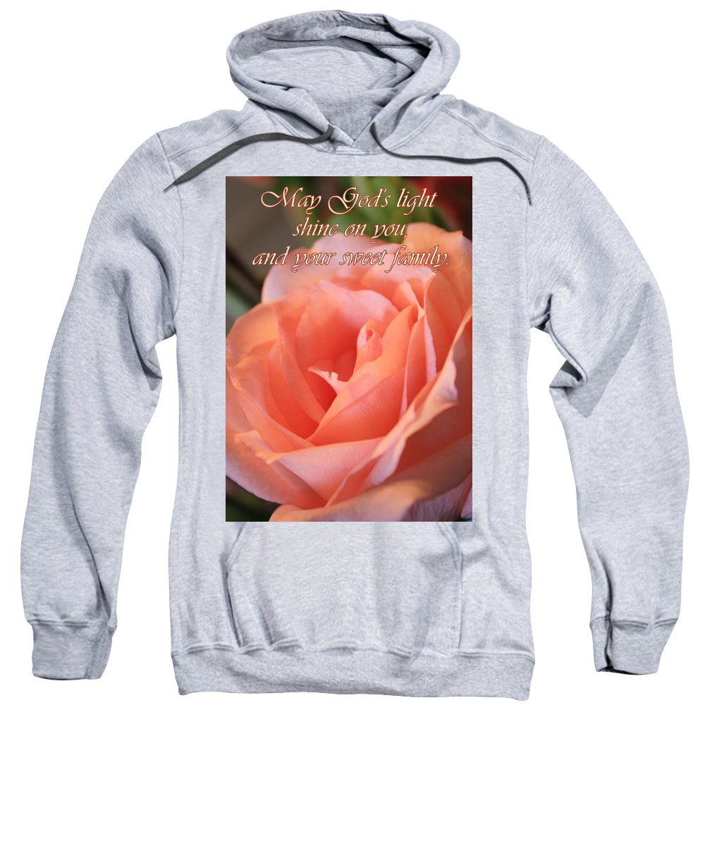 Card Sweatshirt featuring the photograph The Light Of God by Carol Groenen