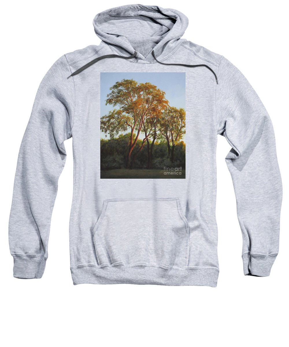 Landscape Sweatshirt featuring the painting The Light Of Summer Sunset by Anna Starkova