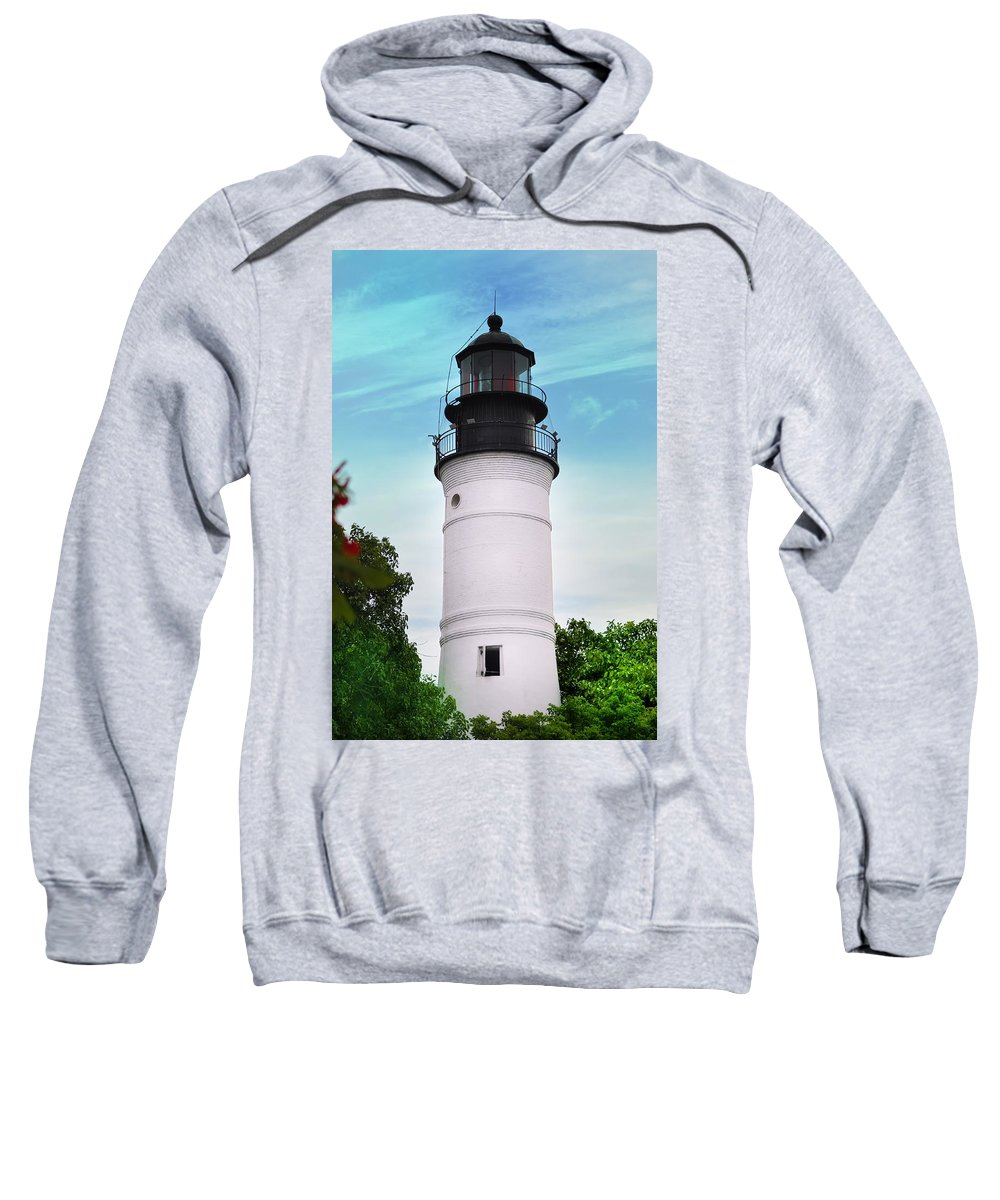 Lighthouse Sweatshirt featuring the photograph The Lighthouse At Key West Florida by Bill Cannon