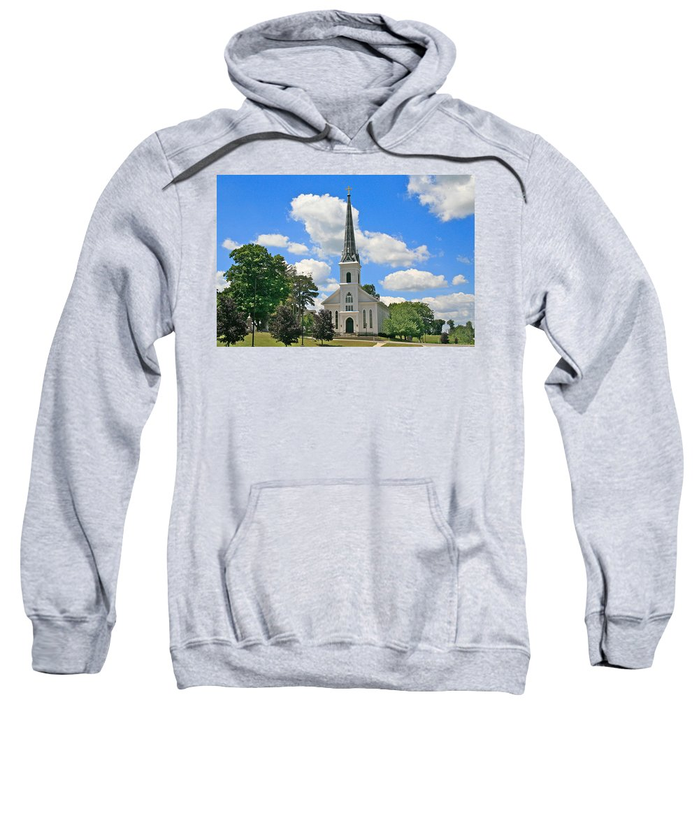Usa Sweatshirt featuring the photograph The Little Country Church by Robert Pearson