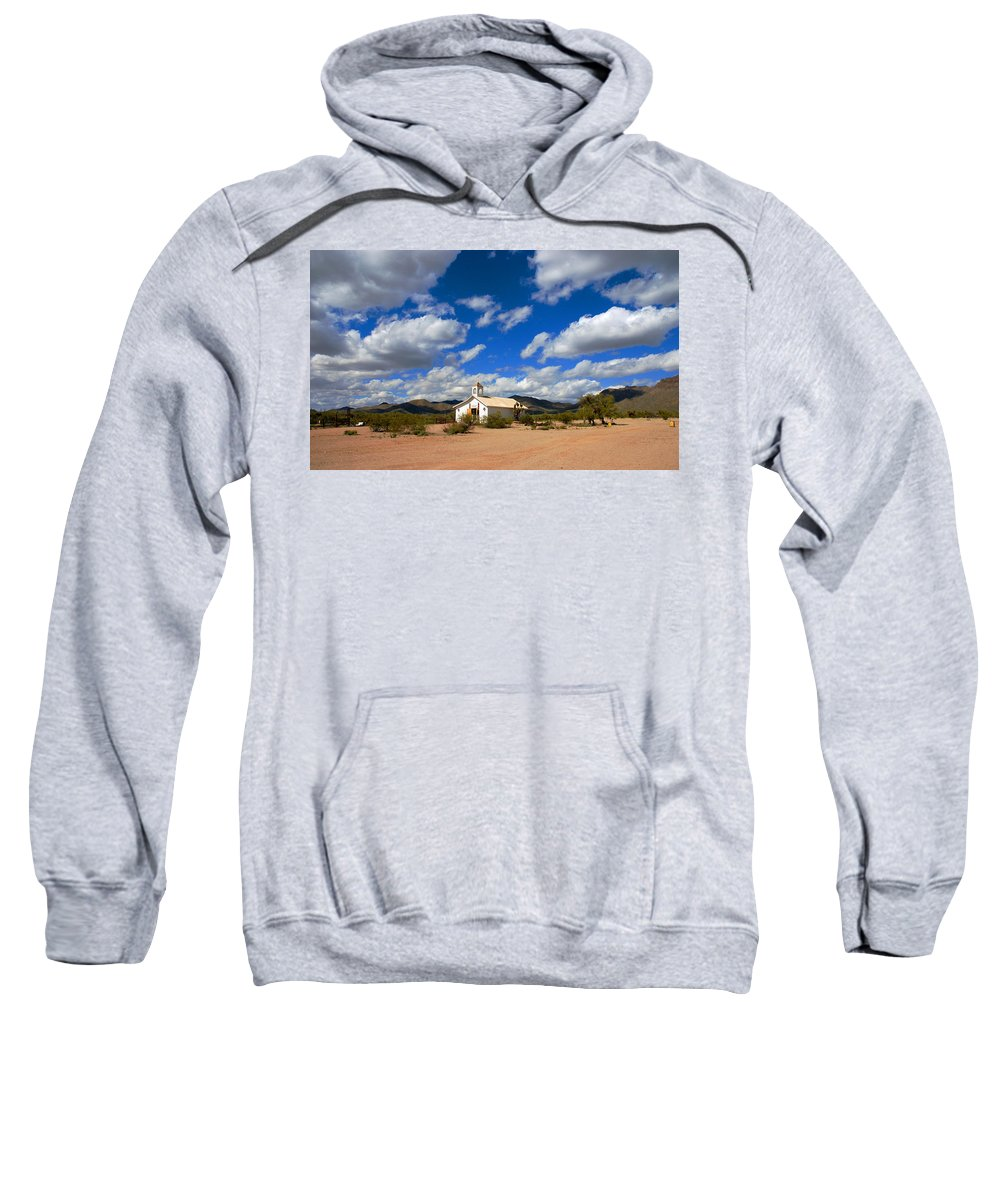 Photography Sweatshirt featuring the photograph The Little Country Church by Susanne Van Hulst