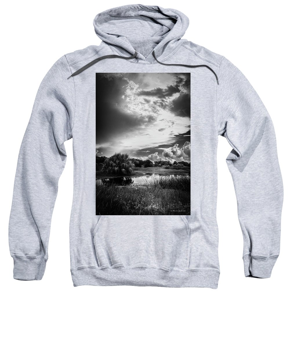 Florida Sweatshirt featuring the photograph The Little Pond by Marvin Spates