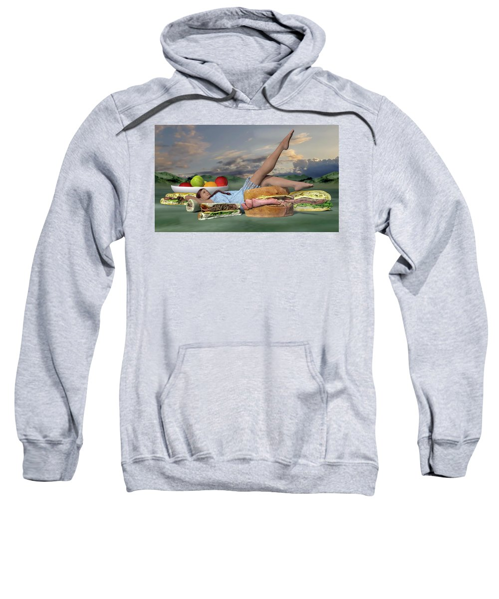 Food Sweatshirt featuring the digital art The Little Things by Betsy Knapp