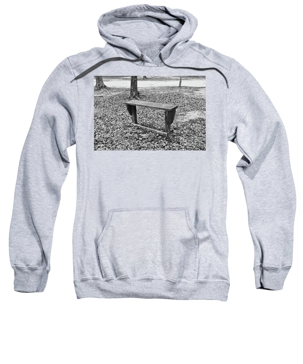 Bench Sweatshirt featuring the photograph The Lonely Bench by Jennifer Sanders