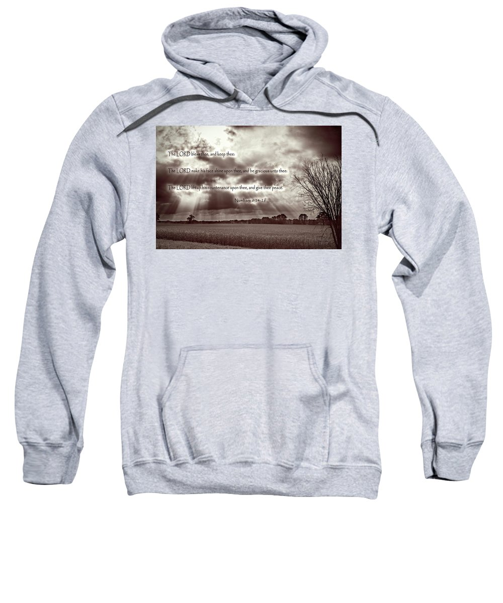 Blessing Sweatshirt featuring the photograph The Lords Blessing by Jayne Gohr