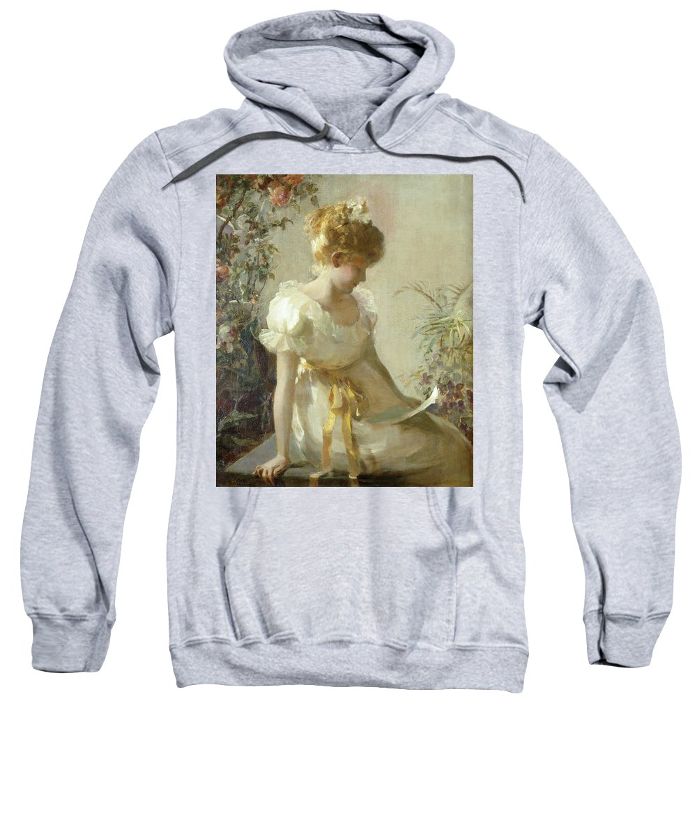 The Love Letter (oil On Canvas) By Jessie Elliot Gorst (fl.1889-99) Sweatshirt featuring the painting The Love Letter by Jessie Elliot Gorst