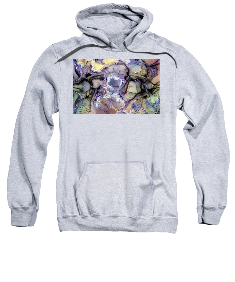 Abstract Sweatshirt featuring the digital art The Matrix Reestablished by Casey Kotas