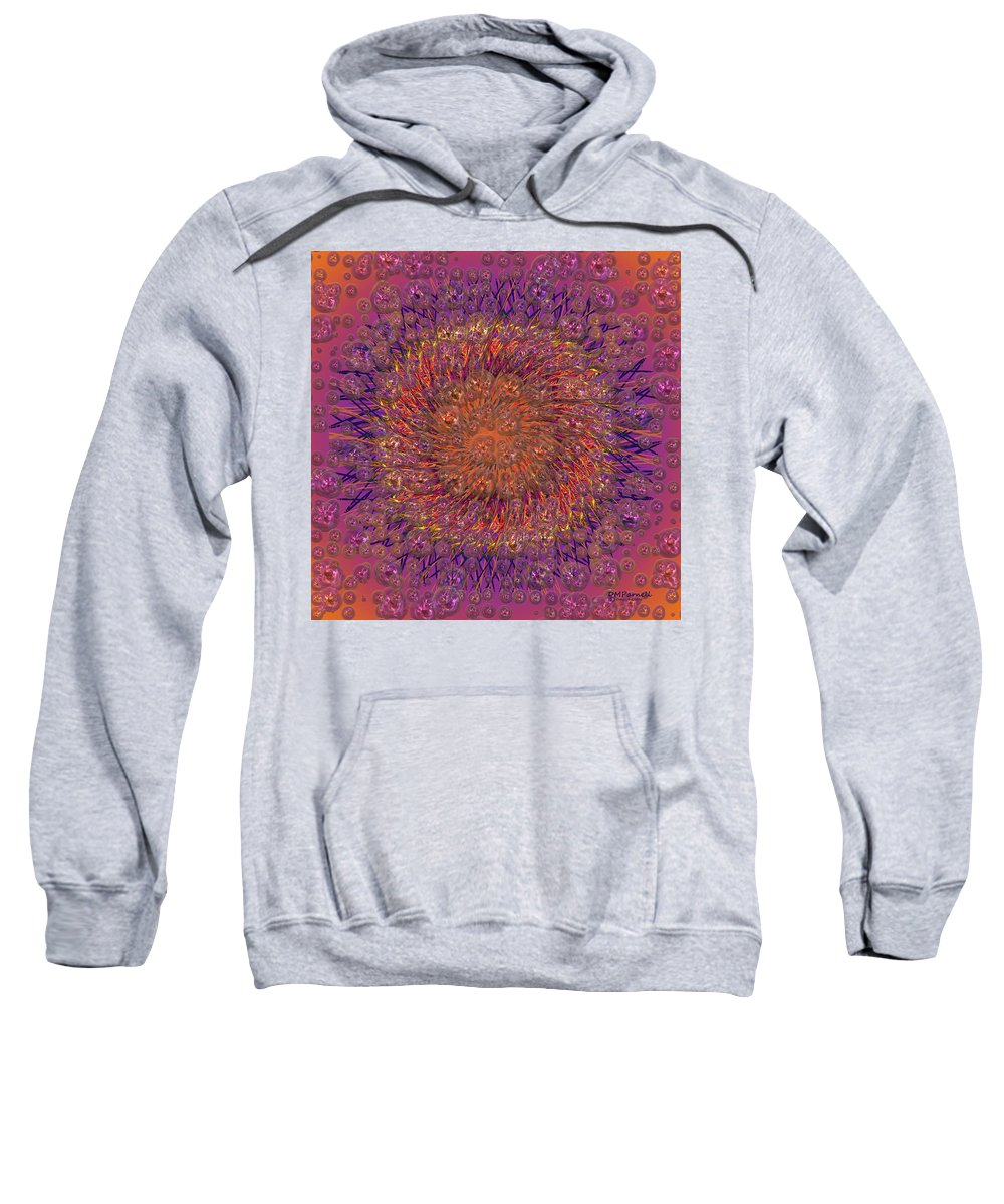 Abstract Sweatshirt featuring the digital art The Meditation Of Souls by Diane Parnell