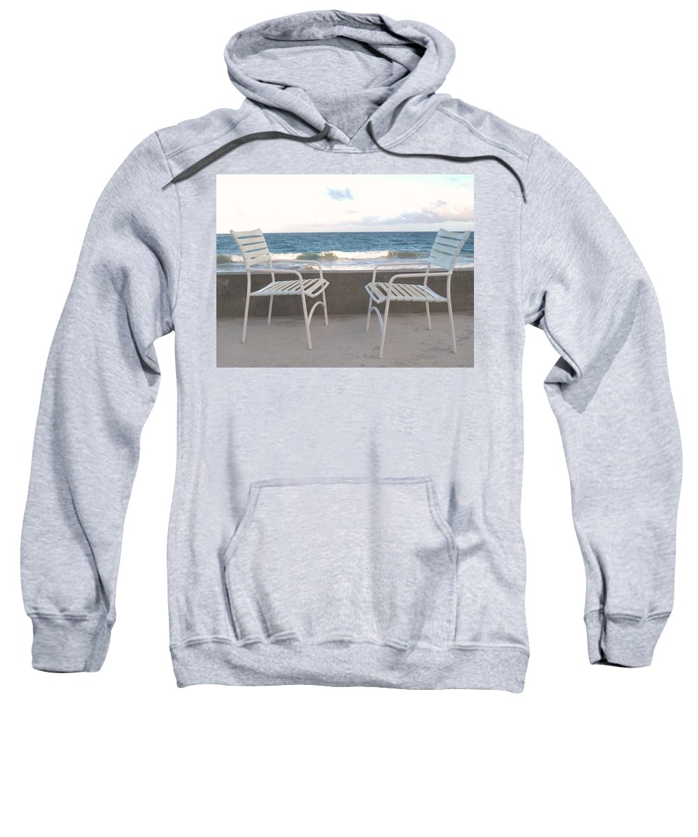 Seascape Sweatshirt featuring the photograph The Meeting by Ian MacDonald