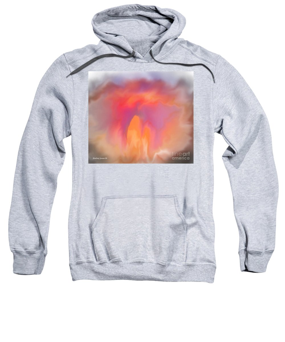 Computer Art Sweatshirt featuring the digital art The Meeting Place by Shelley Jones