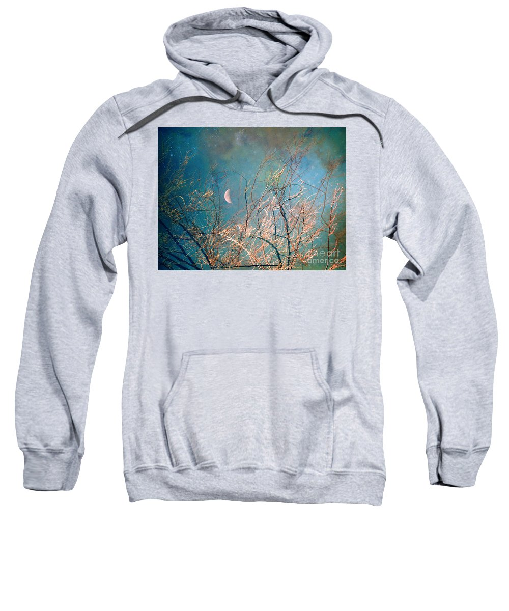 Moon Sweatshirt featuring the photograph The Messy House Of The Moon by Tara Turner