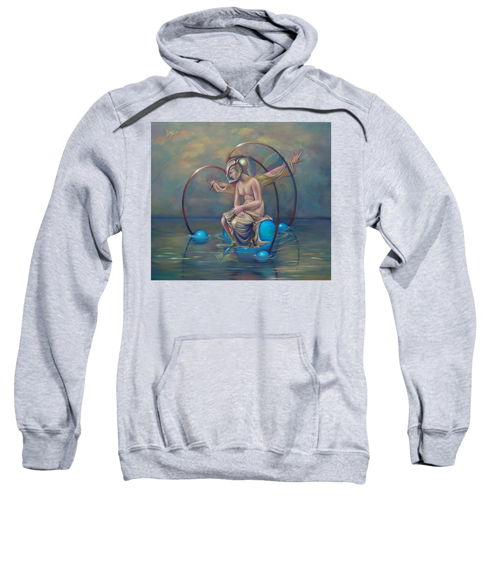 Earth Sweatshirt featuring the painting The Metamorphosis Of Gaia by Patrick Anthony Pierson