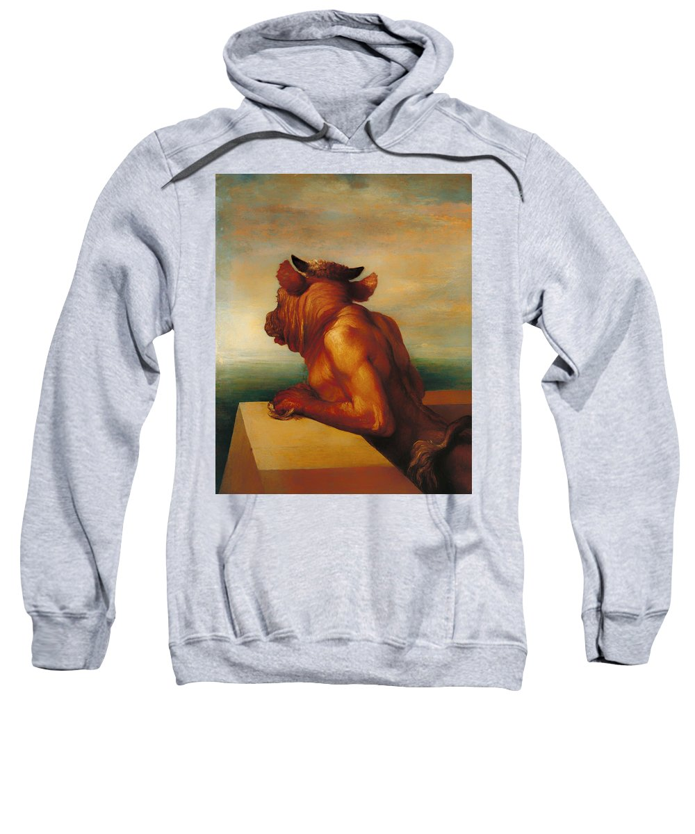 Painting Sweatshirt featuring the painting The Minotaur by Mountain Dreams
