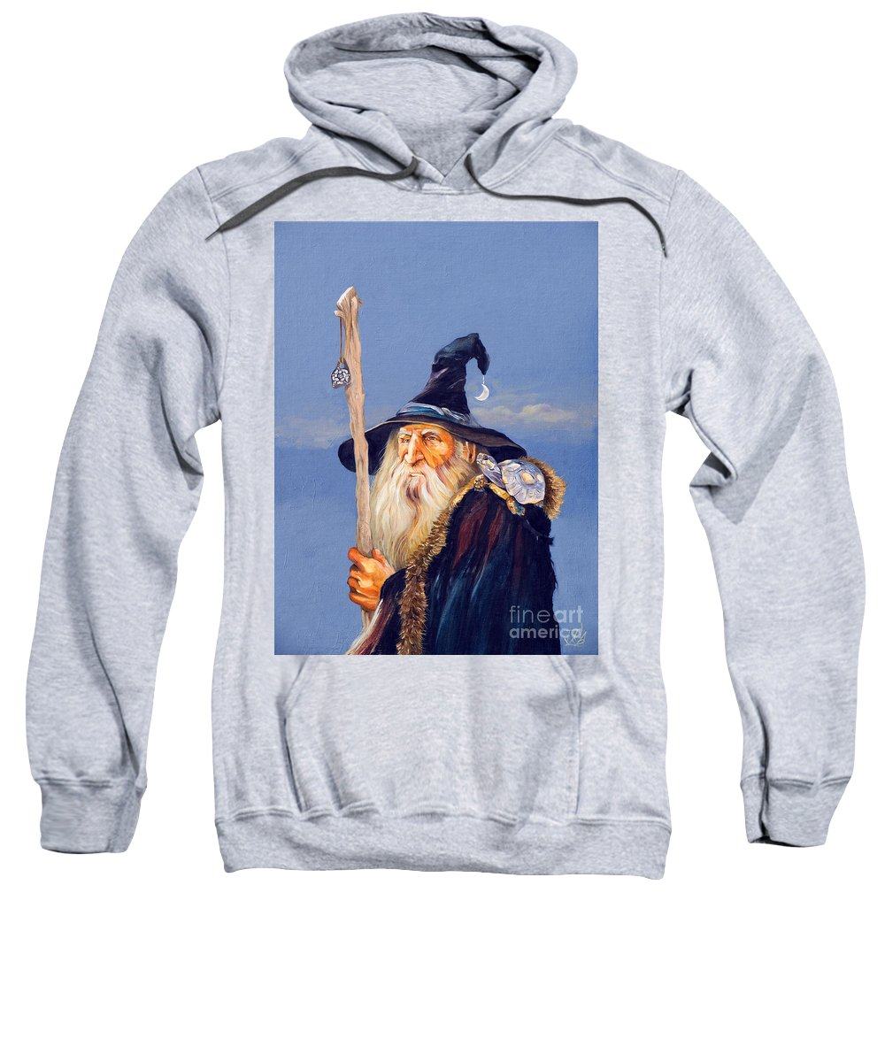 Wizard Sweatshirt featuring the painting The Navigator by J W Baker